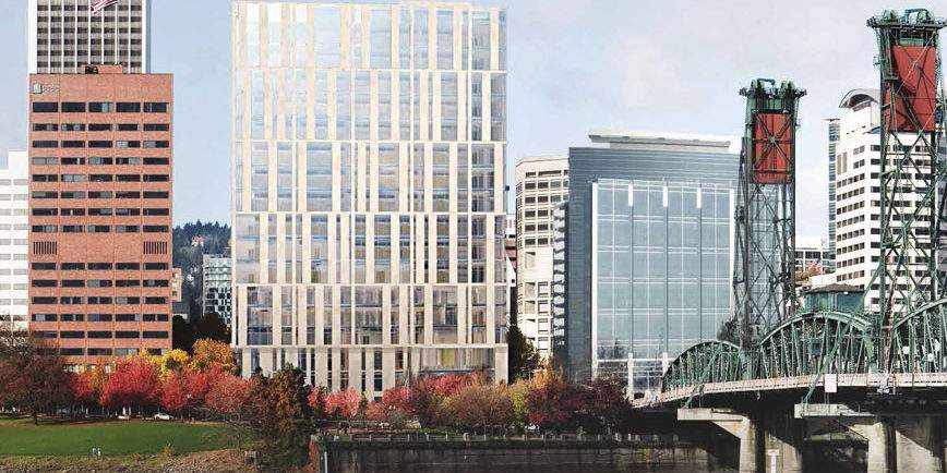 Multnomah_County_Central_Courthouse_East__Hawthorne_Bridge_view-panorama